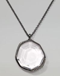 Ippolita - White Pave Diamond Pendant Necklace  - Lyst