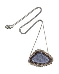 Kimberly Mcdonald | Metallic 18karat Blackened White Gold Geode and Diamond Necklace | Lyst