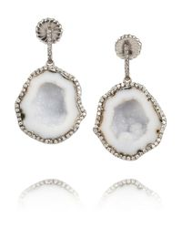 Kimberly Mcdonald | Metallic 18karat Blackened White Gold Geode and Diamond Earrings | Lyst