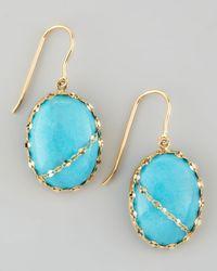 Lana Jewelry | Blue Turquoise Chain-Detail Drop Earrings | Lyst