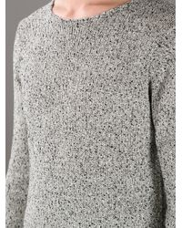 Paul Smith - Gray Flecked Sweater for Men - Lyst