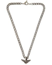 Saint Laurent | Metallic Dollar Sign Necklace for Men | Lyst