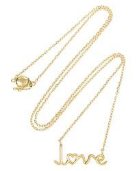 Solange Azagury-Partridge - Metallic Love 18karat Gold Necklace - Lyst