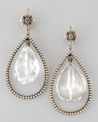Stephen Dweck | Metallic Nouveau Rock Crystal Drop Earrings | Lyst