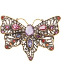 Cathy Waterman - Pink Diamond Sapphire Butterfly Ring - Lyst