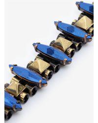 Iosselliani - Blue Deco Rock Chain Bracelet - Lyst