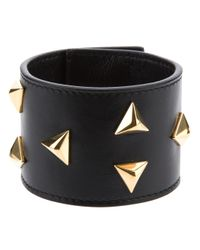 Saint Laurent | Black Triangle Stud Bracelet | Lyst