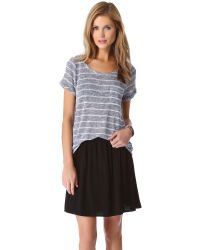 Splendid - Gray Caspian Loose Knit Tee - Lyst