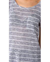 Splendid - Gray Caspian Loose Knit Tee - Lyst