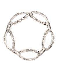 Anne Klein - Metallic Silvertone Pave Stone Bracelet - Lyst