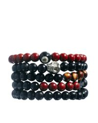 ASOS | Black Bracelet Pack with Multi Beads for Men | Lyst
