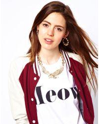 ASOS - Metallic Eagle Necklace - Lyst