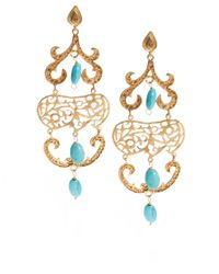 ASOS | Blue Ottoman Hands Exclusive To Ornate Chandelier Earrings | Lyst