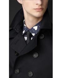 Burberry - Black Cotton Sateen Trench Coat for Men - Lyst