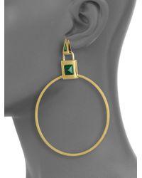 Eddie Borgo - Metallic Malachite Padlock Earrings - Lyst