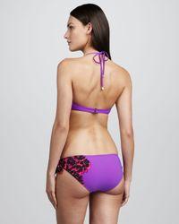 Marc By Marc Jacobs | Purple Santiago Floral Print Underwire Halter Top | Lyst