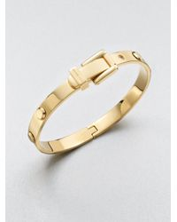 Michael Kors | Metallic Astor Rivet Buckle Bangle Bracelet/Goldtone | Lyst