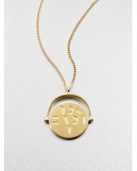 Mija | Metallic I Love You Spinning Charm Necklace | Lyst