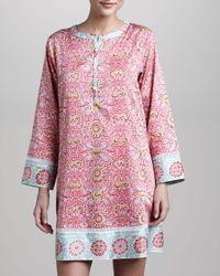 Oscar de la Renta   Pink Jewel Tapestry Short Caftan   Lyst