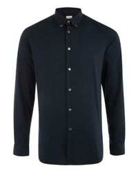 Paul Smith - Byard Slim-fit Micro-paisley Cotton Shirt, Men's, Size: 17.5, Blue for Men - Lyst