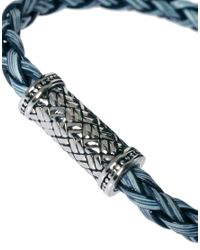 Seven London | Blue Rattan Bracelet for Men | Lyst