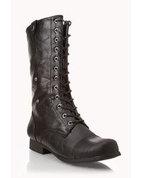 Forever 21 - Black Southwest Bound Fold-over Combat Boots - Lyst