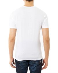 Gucci - White Watercolour Logoprint Tshirt - Lyst