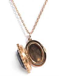 Irene Neuwirth   Metallic Diamond Labradorite Gold Locket Necklace   Lyst