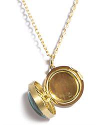 Irene Neuwirth | Metallic Diamond Turquoise Gold Pendant Necklace | Lyst