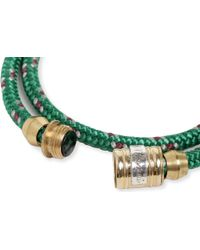 Miansai - Green Casing Double-wrap Bracelet - Lyst