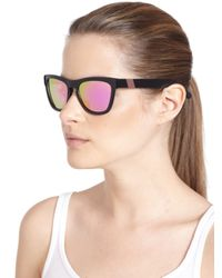 Westward Leaning - Black Color Revolutions Acetate Square Sunglasses/Neon Pink - Lyst