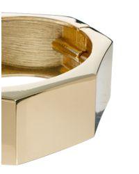 ASOS - Metallic Hex Hinge Bangle Bracelet - Lyst