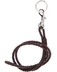 Bottega Veneta - Brown Woven Dog Clip Necklace - Lyst