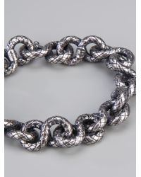 Bottega Veneta - Metallic Chunky Chain Bracelet - Lyst
