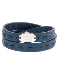 Fendi - Blue Double Wrap Bracelet - Lyst
