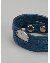 Fendi | Blue Double Wrap Bracelet | Lyst