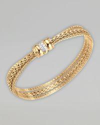 John Hardy | Metallic 18k Gold Bedeg Diamond Clasp Bracelet | Lyst