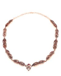 Sabine G | Orange Silver Plated Gold Diamond and Ruby Headpiece | Lyst