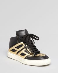 Alejandro Ingelmo - Black Lace Up High Top Sneakers Tron - Lyst