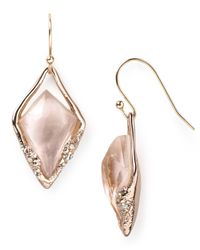 Alexis Bittar | Metallic Liquid Rose Gold Small Molten Earrings | Lyst
