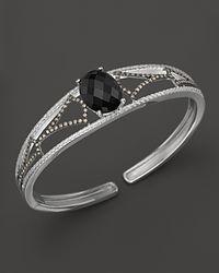Badgley Mischka - Metallic Onyx And Diamond Cuff - Lyst