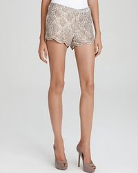 Basix Black Label - Brown Sequin Shorts - Lyst