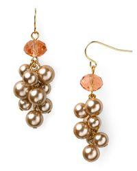 Carolee - Metallic Beaded Cluster Earrings - Lyst