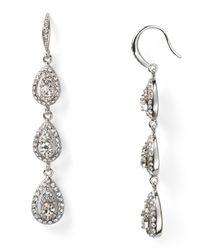 Carolee - Metallic Triple Drop Linear Earrings - Lyst