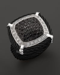 Charriol | Celtic Noir Square Black and White Diamond Ring | Lyst