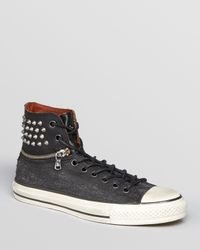 Converse - Black All Star Zip Off Ankle Nailhead High Top Sneakers for Men - Lyst