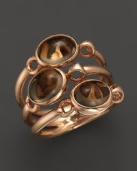 Di Modolo - Pink 18k Rose Gold Silver Plated Smoky Quartz Triple Small Ring - Lyst