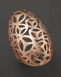 Di Modolo - Metallic Rose Plated Open Weave Full Finger Ring - Lyst