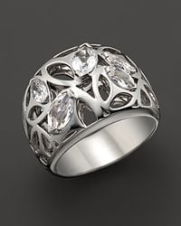 Di Modolo | Metallic Sterling Silver and Rock Crystal Medallion Ring | Lyst
