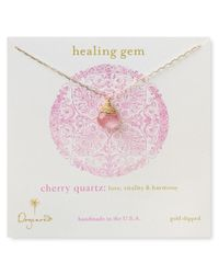 Dogeared - Red Healing Gem Briolette Necklace with Cherry Quartz Pendant 18 - Lyst